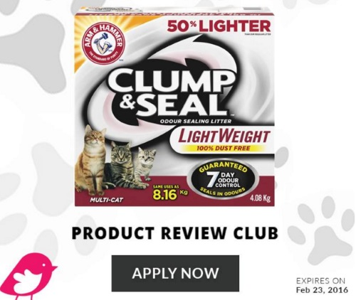 Chickadvisor Arm & Hammer Lightweight Clump & Seal Cat Litter Campaign