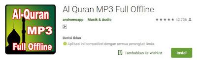 Aplikasi Al Quran MP3 Full Offline