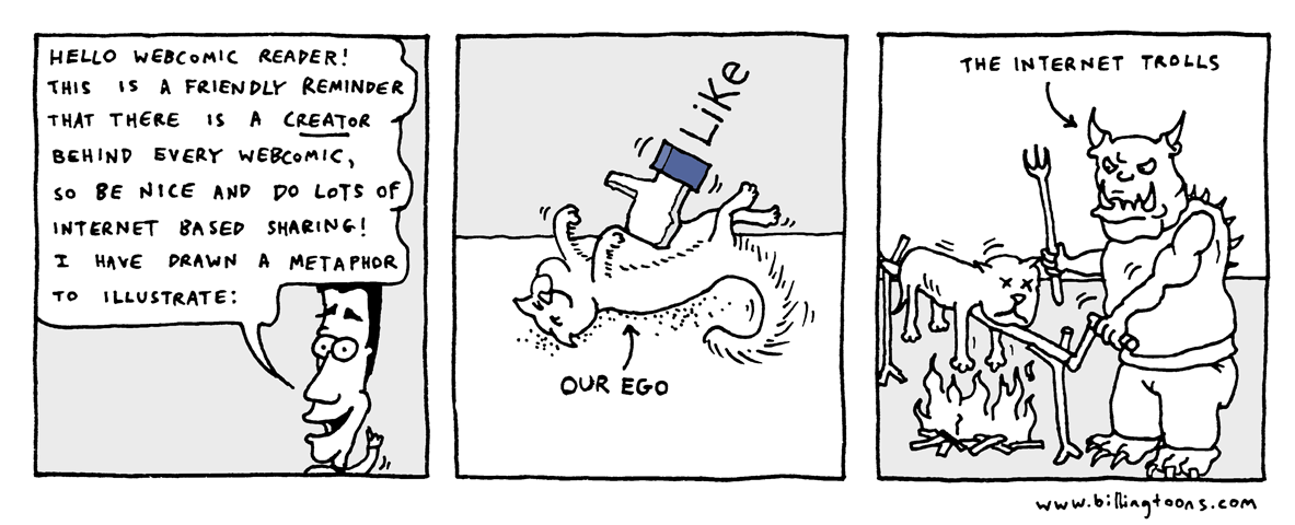 Billingtoons: Be Nice to the Webcomics