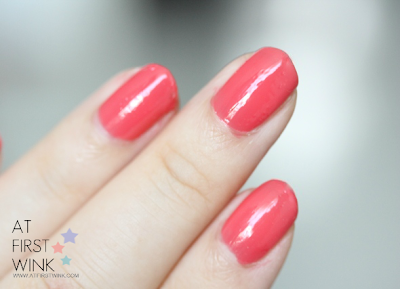 Etude House OR202 - Grapefruit syrup nail polish wear time