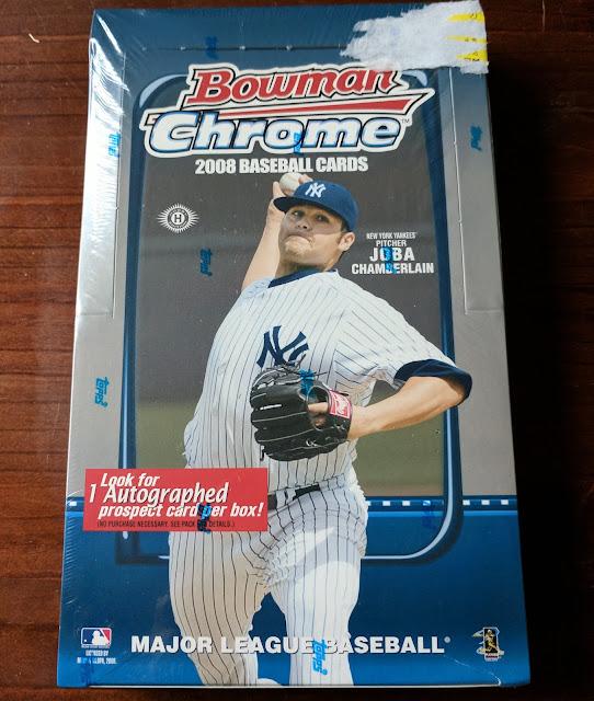 Baseball Card Breakdown A Box Of 2008 Bowman Chrome