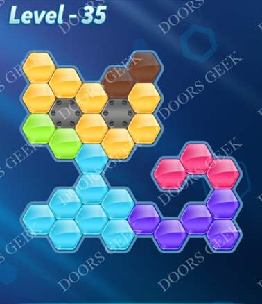 Block! Hexa Puzzle [6 Mania] Level 35 Solution, Cheats, Walkthrough for android, iphone, ipad, ipod