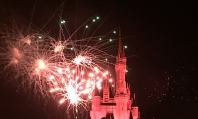 Halloween fireworks at Disneyworld