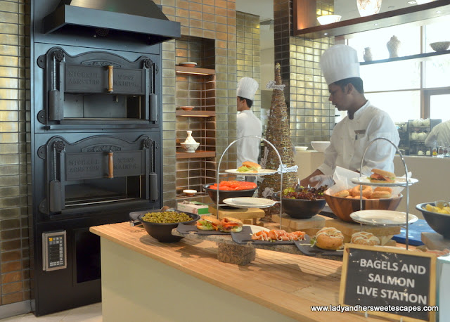 breakfast station at Fairmont Ajman brunch