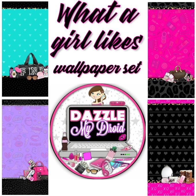 What a girl likes wallpaper set