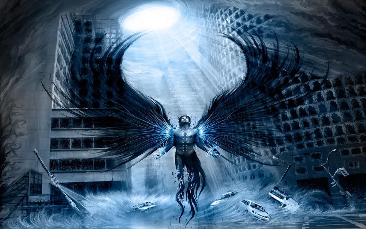 scary image of angel - photo #22