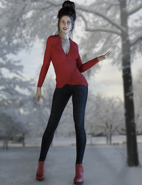 Fashion Sweater Outfit for Genesis 3 Female