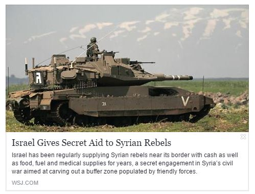 "Israel's fully funded proxy armies in Syria fighting under the ""Syrian Rebels"" banner"