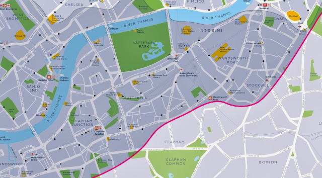 Map showing new TfL bikes in Lambeth