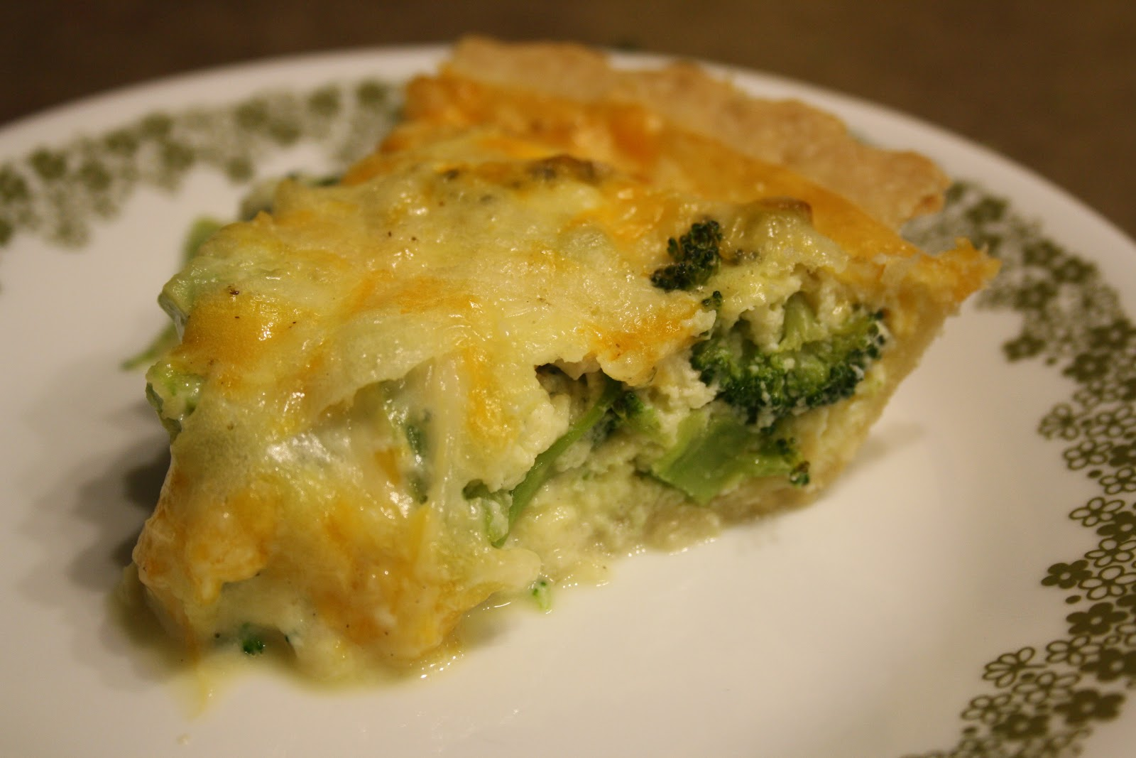 Broccoli-Cheddar Quiche Recipe — Dishmaps