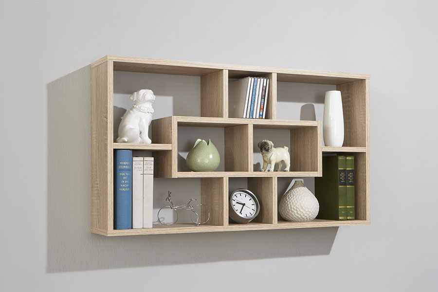 Top 50 wooden wall shelves designs for modern living room ...