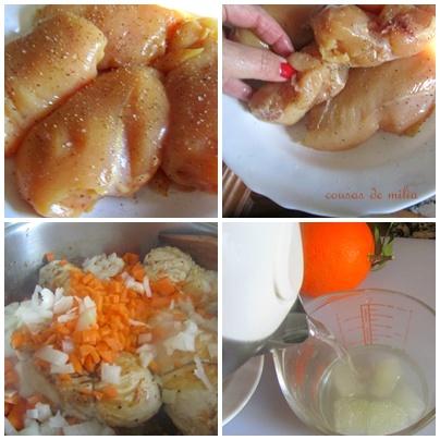 Pollo ligero a la naranja