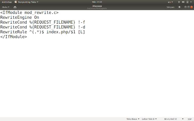 Contoh Isi dari File .htaccess