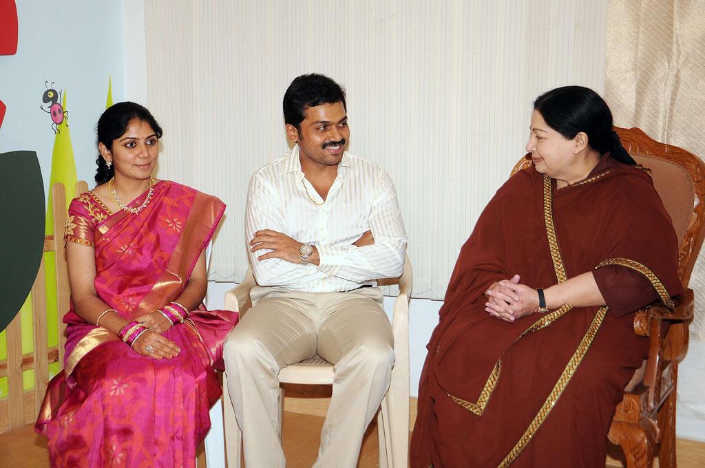 CM Jayalalitha Wishes Karthi-Ranjini Stills | Actor Surya Blog