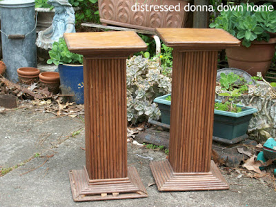 polishing wood pedestals