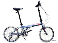 Sepeda Lipat FoldX Vivo 18 Speed Shimano 20 Inci