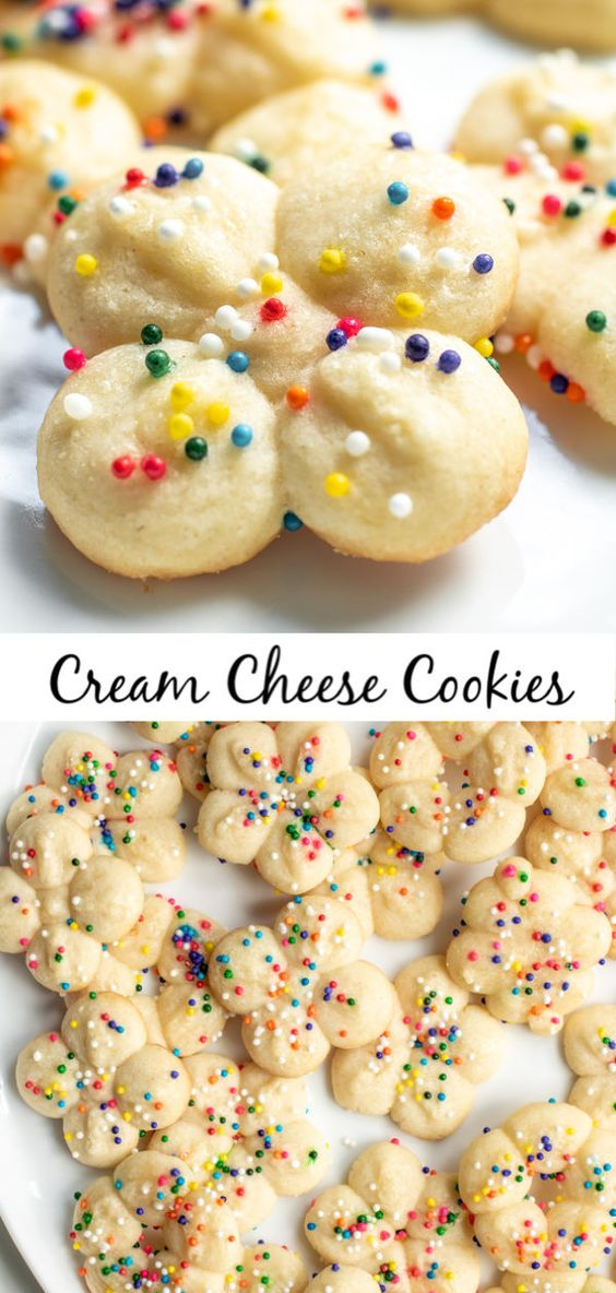 Cream Cheese Cookies Colour #mtom #Cookies #Creamy #Cheesese #Bestcookies #Easycookies