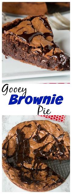 Gooey Brownie Pie Recipe