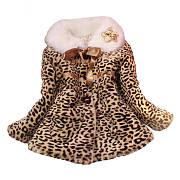 Leopard Print Plush Outerwear