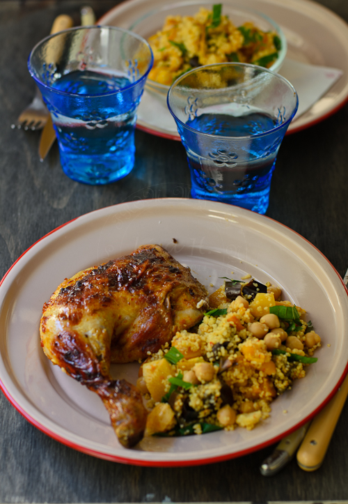 Harissa roast chicken