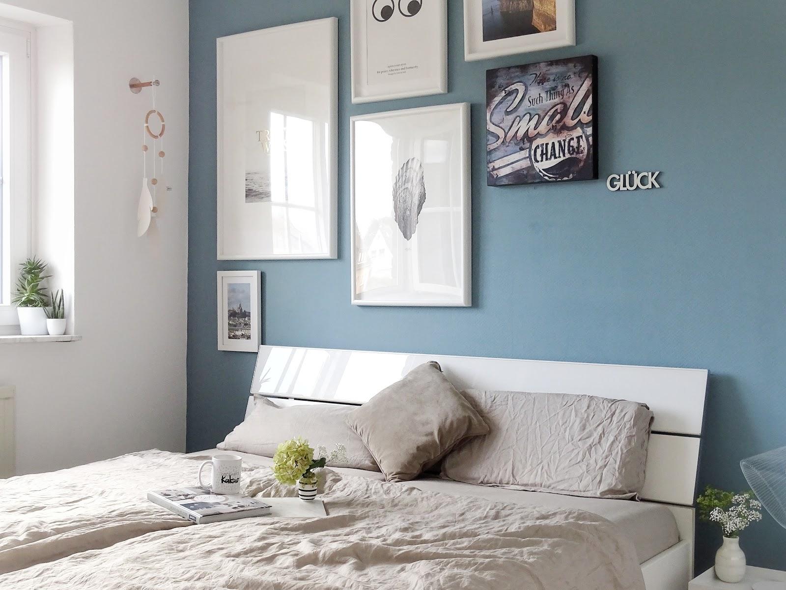 Schlafzimmer Makeover Mit Neuer Wandfarbe