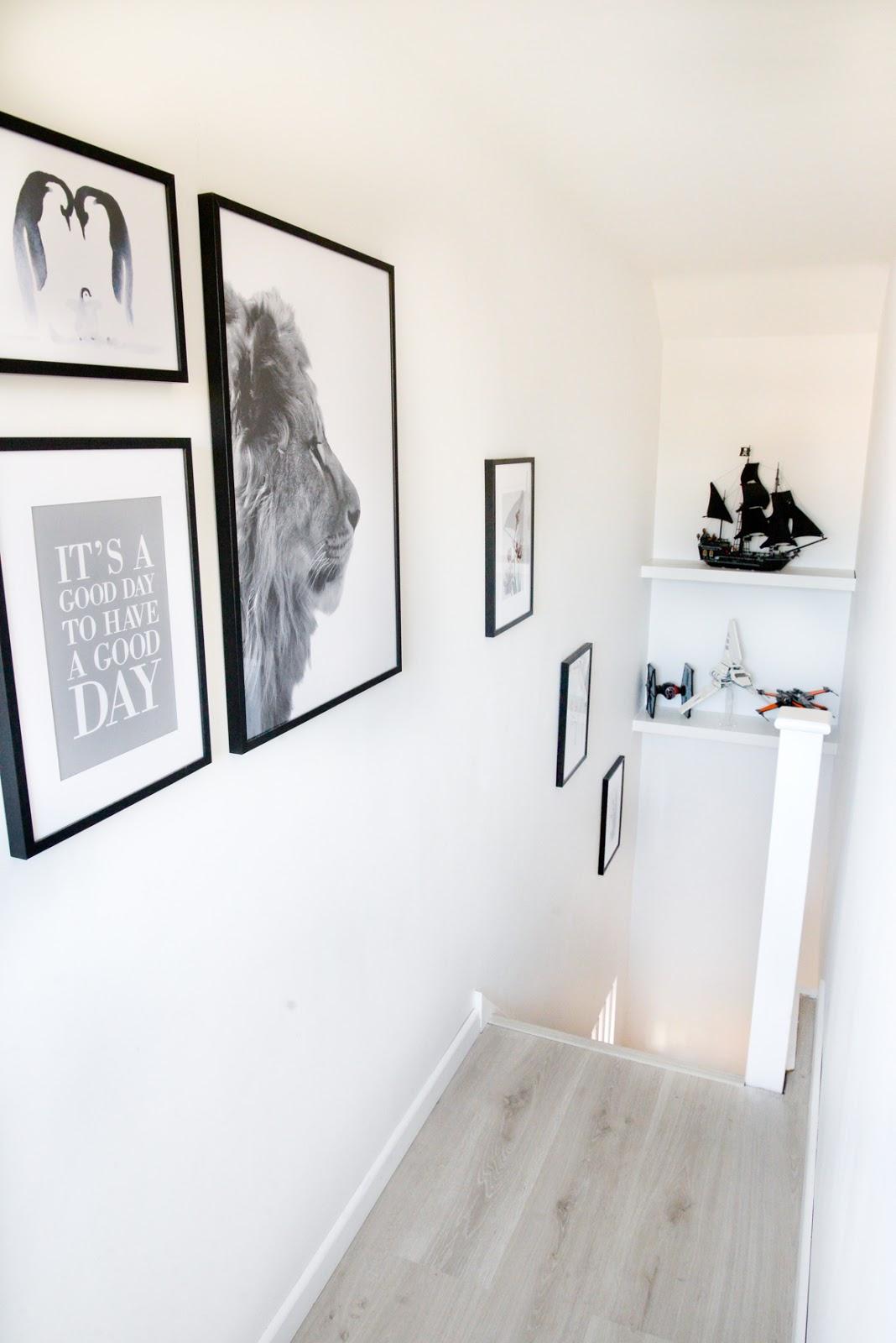loft conversion, desenio prints, lego display ideas,