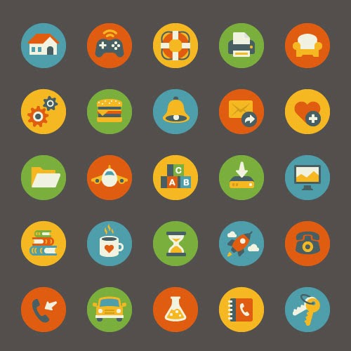 FREE VECTOR FLAT ICONS
