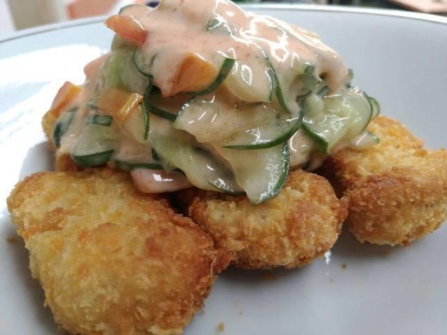 nugget salad sayur, makanan penutup, makanan penutup enak