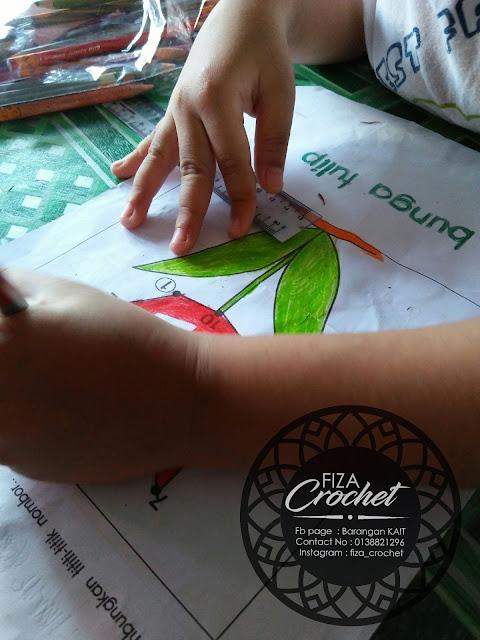 Aktiviti matematik dan sambung titik pra-sekolah