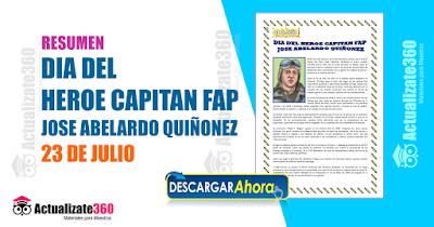 DIA DEL HEROE CAPITAN FAP JOSE ABELARDO QUIÑONEZ 23 DE JULIO
