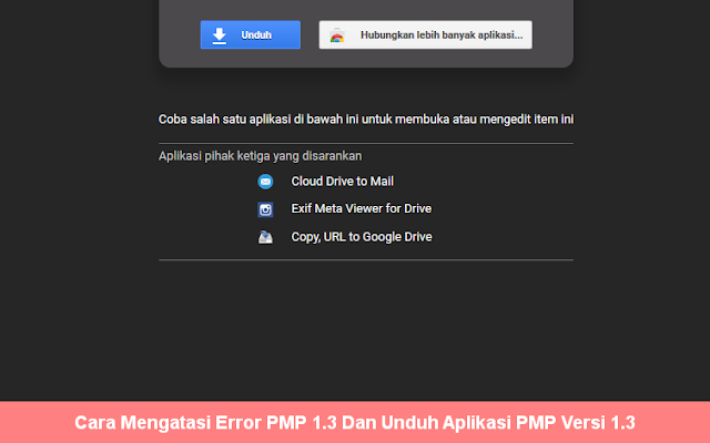 Unduh Aplikasi PMP Versi 1.3