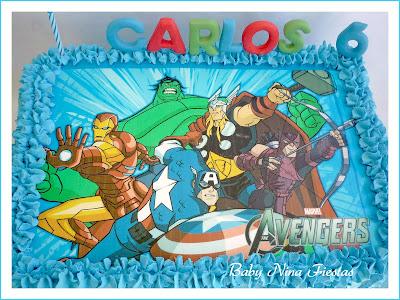 tarta crema Avengers