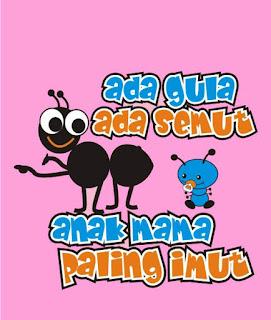 kaos ada gula ada semut
