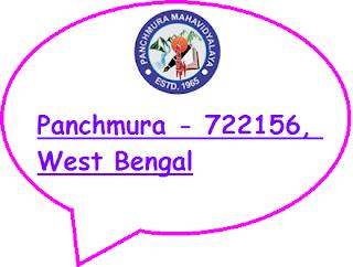 Panchmura Mahavidyalaya, Panchmura - 722156, West Bengal