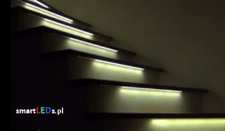 Podświetlane schody LED 12V. Instalacja elektryczna w domu.