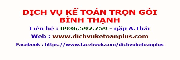 dịch vụ kế toán trọn gói quận Bình Thạnh