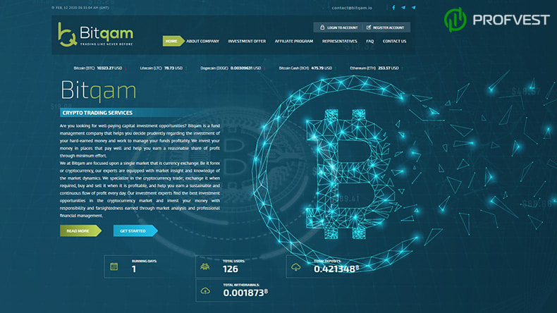 Bitqam обзор и отзывы HYIP-проекта