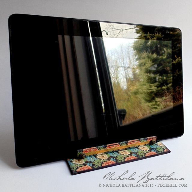 Tablet holder w/ gslcuts.com and Graphic45 - Nichola Battilana