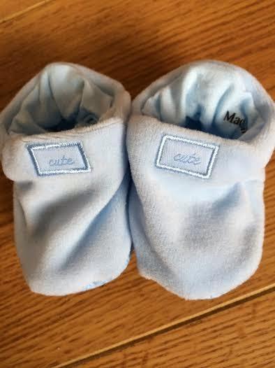 blue baby booties