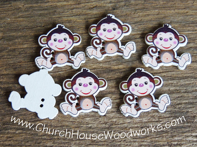 Church House Woodworks Monkey Button Crafts for projects