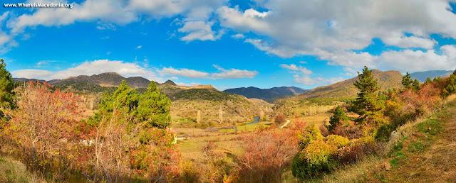 "Panorama - ""Crna"" River entering Mariovo region (photo: www.whereismacedonia.org)"