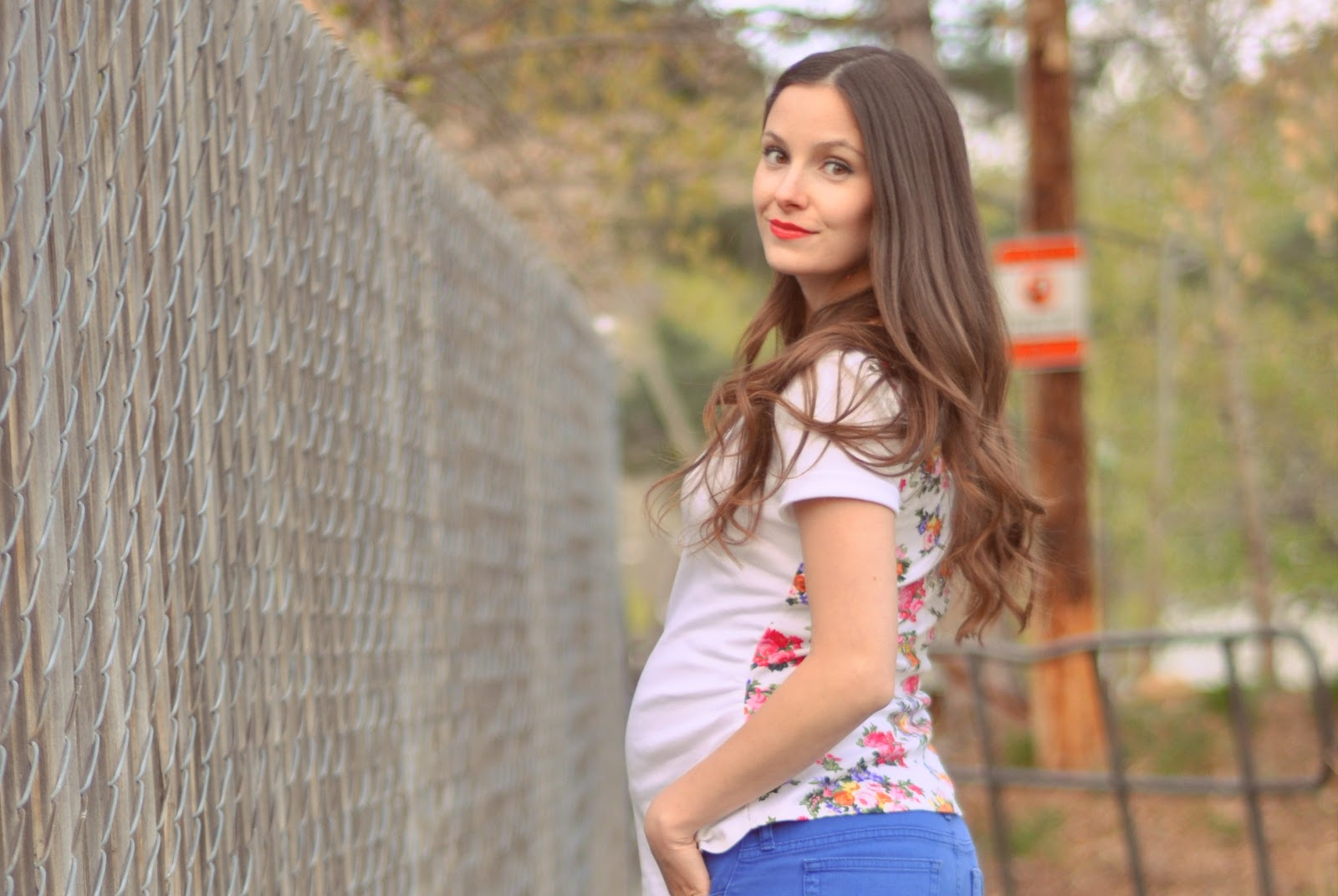 Diy Maternity Clothes Made Megan Nielsens Ruched Shirt Pattern With A Floral