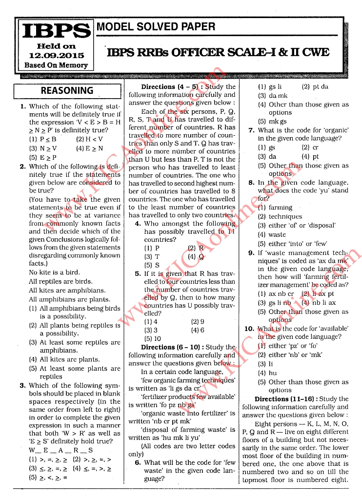 IBPS RRB PREVIOUS SOLVED PAPERS EPUB