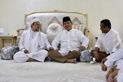 HRS Setelah Setelah Bertemu Prabowo Diawasi.