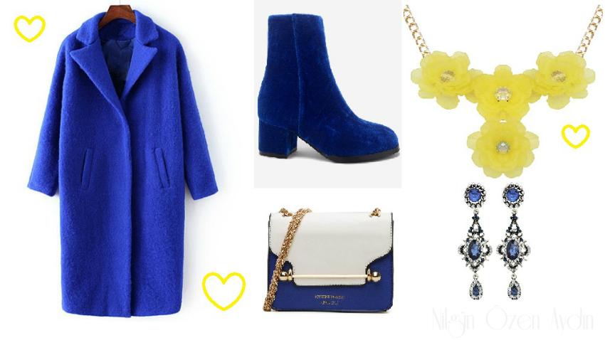 Blue coat-blue boots
