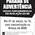 SINTE/REGIONAL SANTA CRUZ DIVULGA DATAS DE ASSEMBLEIA REGIONAL E DE PARADA DE ADVERTÊNCIA