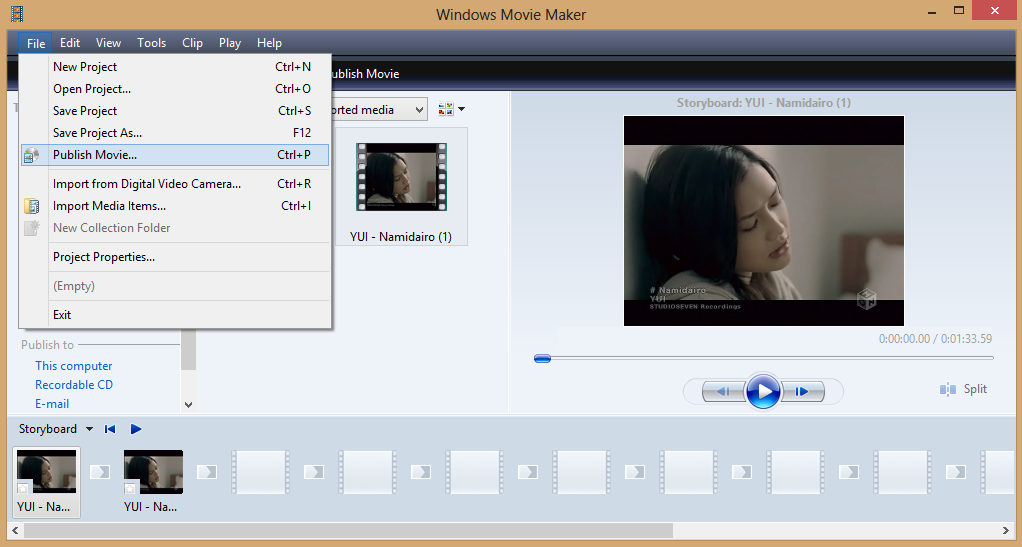 Cara Menyambung Beberapa Video Dengan Windows Movi Maker 2