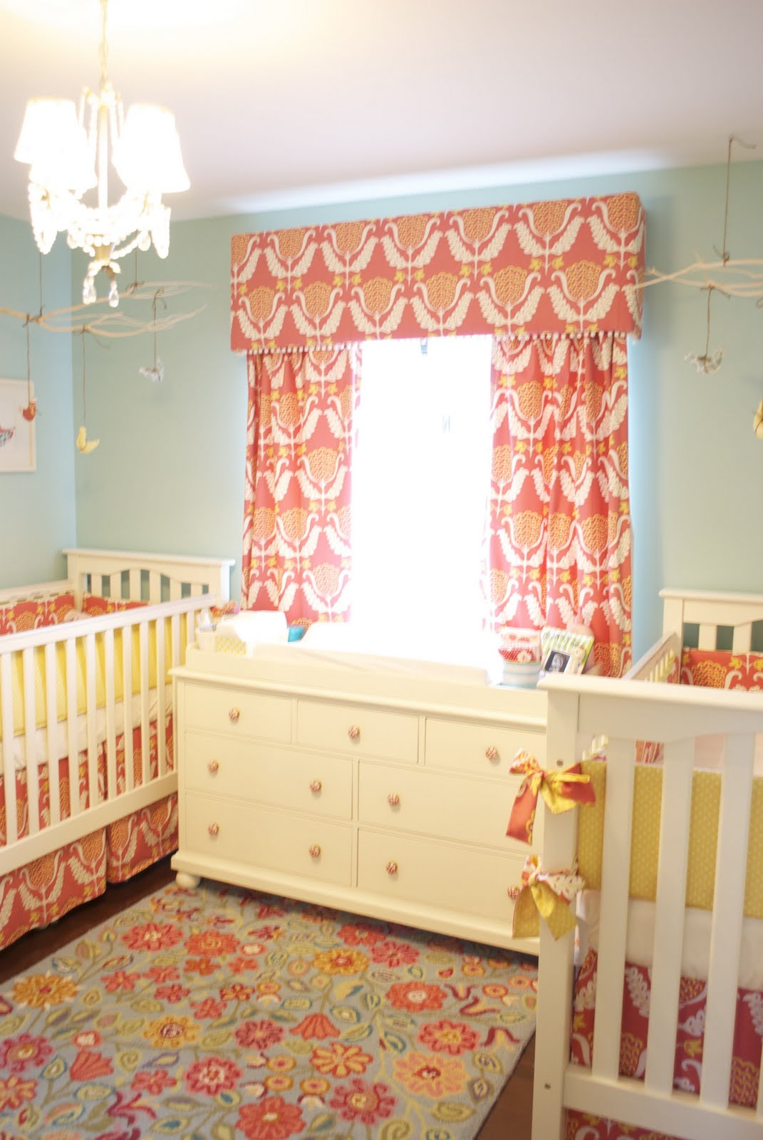 Girl Crib Bedding Orange