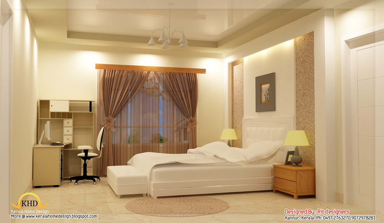 Beautiful 3d interior designs kerala home design and - Interior home design ideas pictures ...