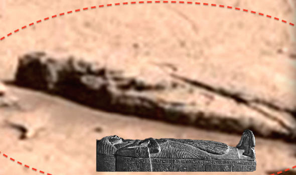 A Sarcophagus has been found on Mars